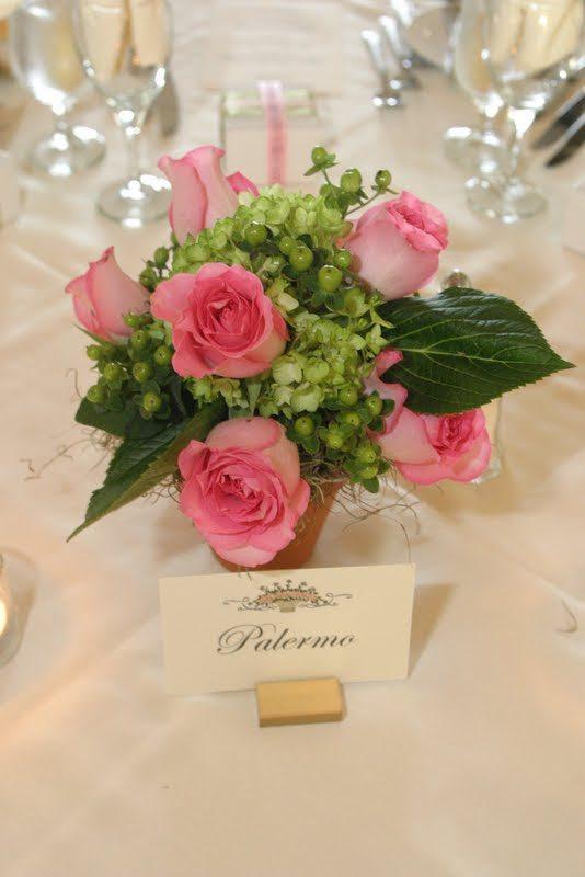 Placement Card Wedding Venue Flowers
