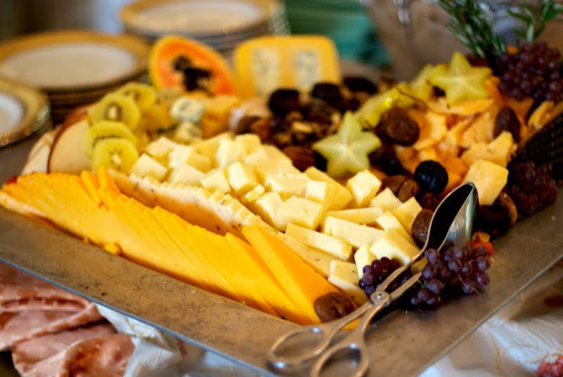 cheese and fruits wedding catering